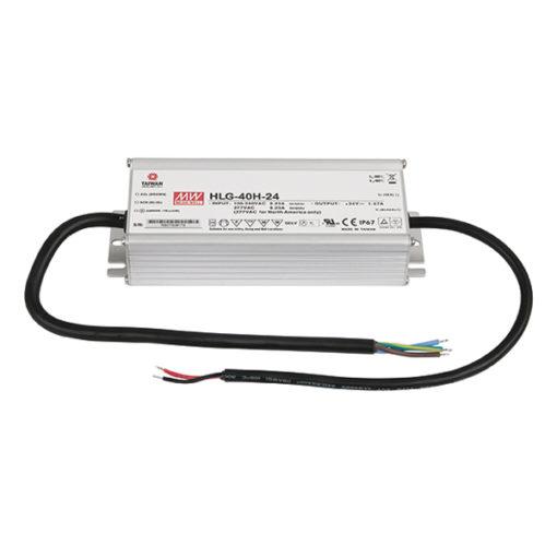 LED Power Supply 40 W 24 VDC HLG-40H-24