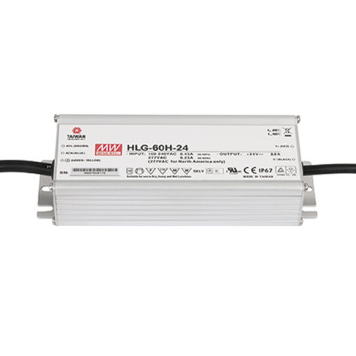 LED Power Supply 60 W 24 VDC HLG-60H-24