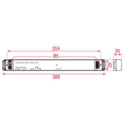 LINEARdrive AC 100 W Constant Voltage c-voltage DALI / DMX / RDM, Ledsync, 0-10V