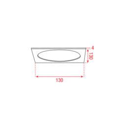 Largo-SQ 1 Telaio quadrato singolo per A0139520 o A0139521