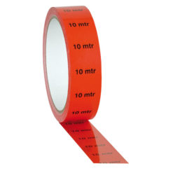 "Markertape 25 mm/33 m indicatore ""10 m"", rosso"