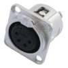 NEUTRIK XLR mounting socket 4pin NC4FDL-1