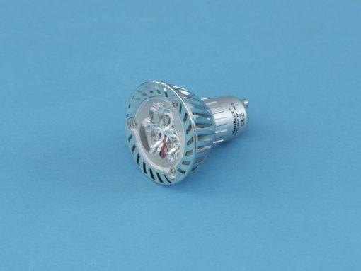 OMNILUX GU-10 230V 3x1W LED red