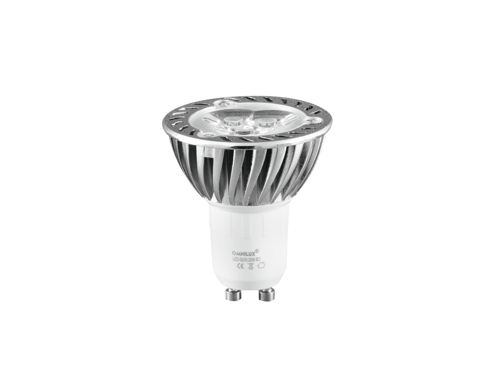 OMNILUX GU-10 230V 3x1W LED yellow