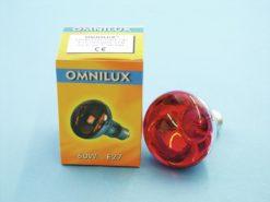 OMNILUX R80 230V/60W E-27 red