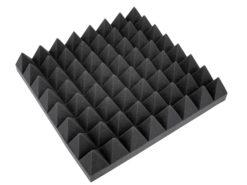 OMNITRONIC Accoustic Foam, Pyramid 100mm, 50x50cm
