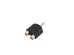 OMNITRONIC Adapter 2xRCA(F)/3.5 Jack stereo 10x