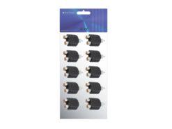 OMNITRONIC Adapter 2xRCA(F)/RCA(M) 10x