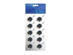 OMNITRONIC Adapter 2xRCA/Jack stereo 10x