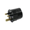 OMNITRONIC Adapter EU/UK plug 13A bk