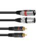 OMNITRONIC Adaptercable 2xXLR(M)/2xRCA 6m bk