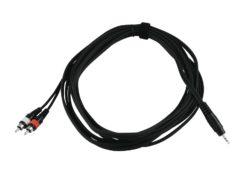 OMNITRONIC Adaptercable 3.5 Jack/2xRCA 6m bk