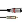 OMNITRONIC Adaptercable RCA/XLR 5m rd