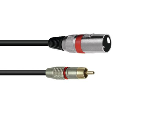 OMNITRONIC Adaptercable RCA/XLR 5m rd