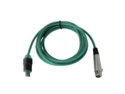 OMNITRONIC Adaptercable USB/XLR(F) 5m gn