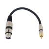 OMNITRONIC Adaptercable XLR(F)/RCA(M) 0.2m bk