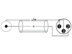 OMNITRONIC Adaptercable XLR(M)/RCA(M) 0.2m bk