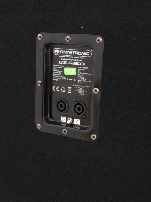 OMNITRONIC BX-1250 Subwoofer 600W
