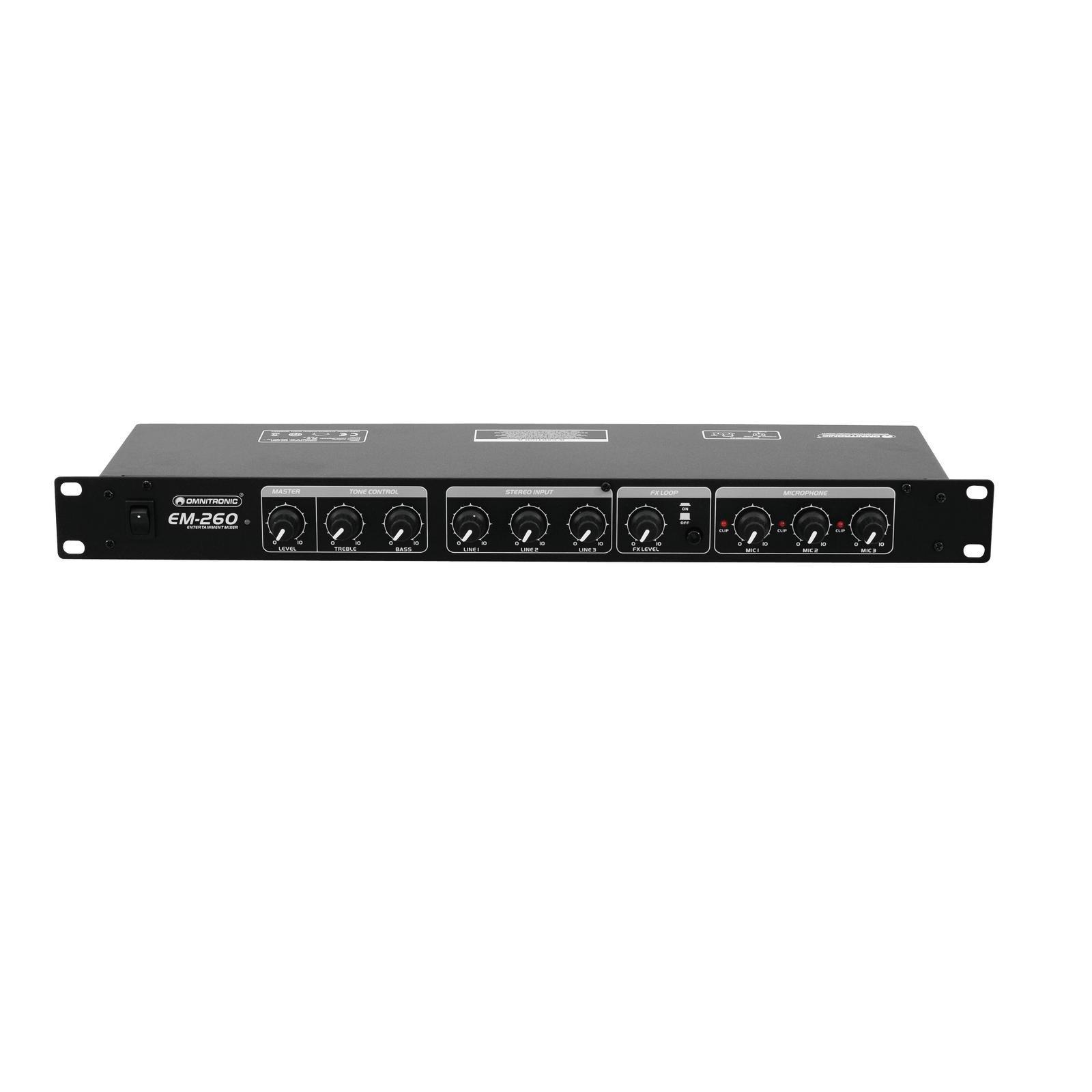 OMNITRONIC EM-260B Entertainment Mixer