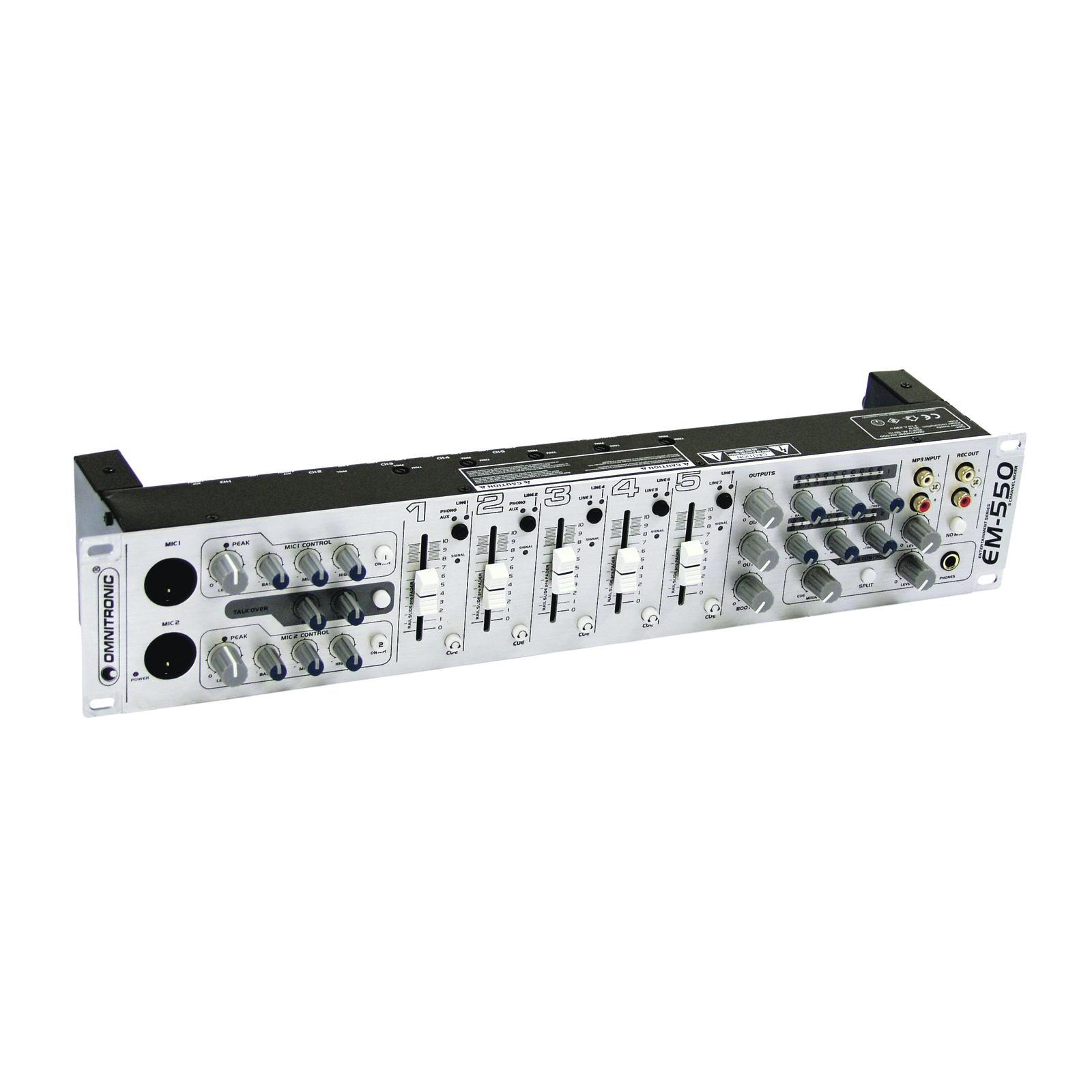 OMNITRONIC EM-550 Entertainment Mixer