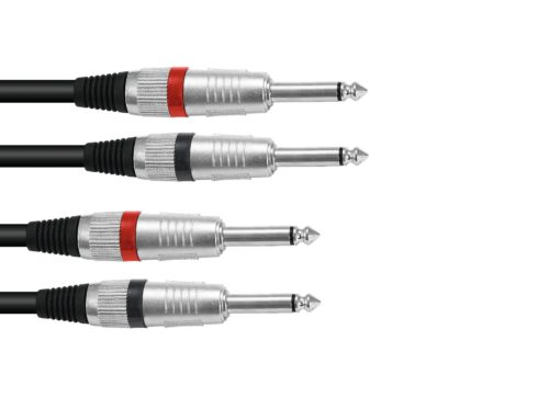 OMNITRONIC Jack cable 2x2 Jack mono 3m