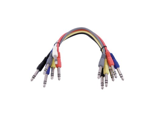 OMNITRONIC Jack cable 6.3 Patchcord stereo 6x0.6m
