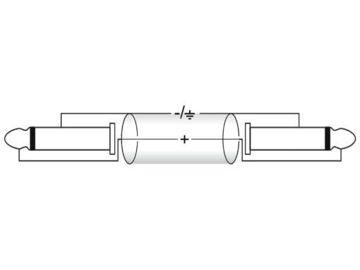 OMNITRONIC Jack cable 6.3 mono 0.5m bk