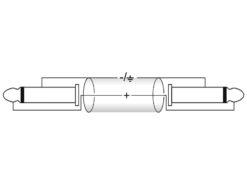 OMNITRONIC Jack cable 6.3 mono 1.5m bk ROAD