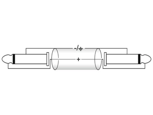 OMNITRONIC Jack cable 6.3 mono 6m bk ROAD