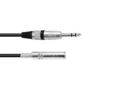 OMNITRONIC Jack extension 6.3 stereo 6m bk