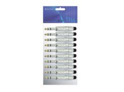 OMNITRONIC Jack plug 6.3 stereo ROAD 10x