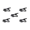 OMNITRONIC Microphone Cable Clip, black 5x