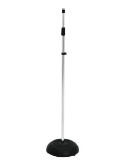 OMNITRONIC Microphone Stand 85-157cm sil