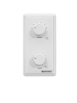 OMNITRONIC PA Volume Controller/Program Selector 5W mono wh