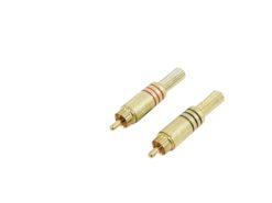 OMNITRONIC RCA plug gold-plated 7mm rd/bk 2x