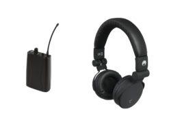 OMNITRONIC Set WMR-1M UHF receiver + SHP-i3 stereo headphones bl