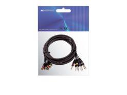 OMNITRONIC Snake cable 8xRCA/8xJack mono 6m