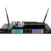 OMNITRONIC UHF-502 2-Channel Wireless Mic System 823-832MHz