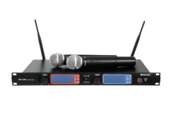 OMNITRONIC UHF-502 2-Channel Wireless Mic System 863-865 MHz