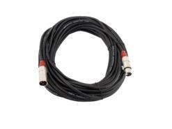 OMNITRONIC XLR cable 3pin 30m bk/rd