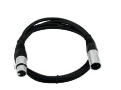 OMNITRONIC XLR cable 5pin 0.5m bk