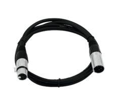 OMNITRONIC XLR cable 5pin 1m bk