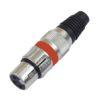 OMNITRONIC XLR socket 3pin rd 10x