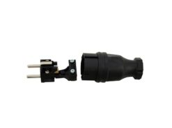 PC ELECTRIC Safety Plug Rubber bk