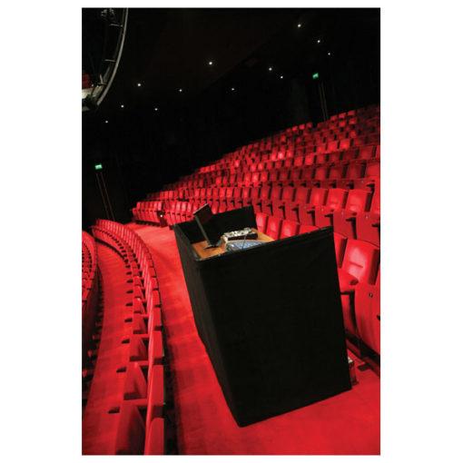 P&D Curtain - Medium Gloss Satin Liscio, 280(l) x 120(h)cm, 300 Gram/M2, Nero