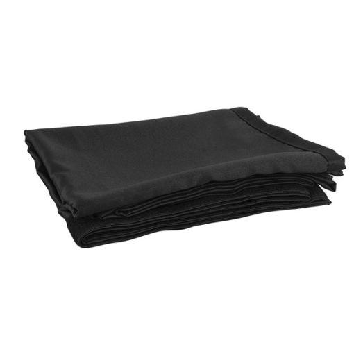 P&D Curtain - Molton CS Con pieghe, 300(w) x 250(h)cm, 150 Gram/M2, Nero