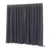 P&D curtain - Dimout Con pieghe, 300(l) x 400(h)cm, 260 Gram/M2, Grigio scuro
