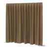 P&D curtain - Dimout Con pieghe, 300(l) x 400(h)cm, 260 Gram/M2, Marrone