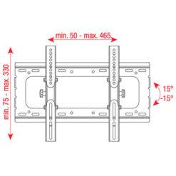 """PLB-2342A Staffa per LCD da 23"""" - 42"""", regolabile 15 gradi"""