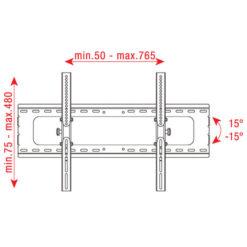 """PLB-3260A Staffa per LCD da 32"""" - 60"""", regolabile 15 gradi"""